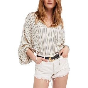 FREE PEOPLE rhythm of the night striped tunic